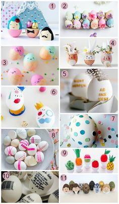 Blog F de Fifi: manualidades, imprimibles y decoración: 11 ideas para decorar huevos de Pascua