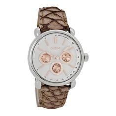 www.clovis.be OOZOO Timepieces horloge Roze/Grijs C7137