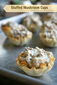 Stuffed Mushroom Cups from Jen's Favorite Cookies #appetizer
