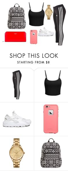 """Travel with meh"" by camerondash86 on Polyvore featuring adidas, LE3NO, NIKE, Lacoste, Vera Bradley, Michael Kors, women's clothing, women's fashion, women and female"