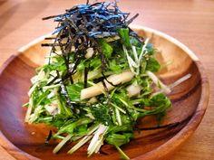 シャキシャキ生野菜たっぷり!水菜と大根の梅サラダ