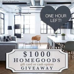 LAST CHANCE  Have you entered?! How would you like to win a $1000 or a gift card for Home Goods ?!  See my original post for full details on how this could be all yours!  #instamom #instalike #instadaily #lookbook #instafashion  #photooftheday #instastyle #instagood #ontrend #fashionista  #ootd #wiw  #whatiwore  #thatsdarling #like4like #cash #momlife #outfitdetails #fashionblogger #mystyle  #money #aboutalook #instablogger #homegoods #bloggers #blogger