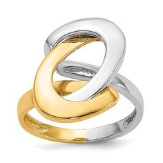 ICE CARATS Two Tone Yellow Gold Fashion Swirl O Band Ring Fine Jewelry Ideal Gifts For Women Gift Set From Heart ** Nice of your presence to drop by to view our picture. (This is an affiliate link) Gold Fashion, Fashion Rings, Jewelry Cleaning Solution, Gift Sets For Women, Gold Polish, Types Of Rings, O Ring, Gold Bands, Or Rose