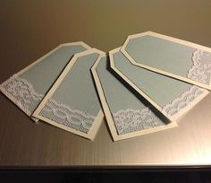 ~Cute idea colors and lace for maybe invitations or name cards?