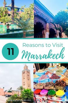 "The ""red city"" of Morocco is a beautiful circus filled with markets, palaces, and beautiful gardens. Here are the 11 reasons why you should visit Marrakech. Visit Marrakech, Marrakech Travel, Visit Morocco, Morocco Travel, Africa Travel, New Travel, Travel List, Africa Destinations, Travel Destinations"