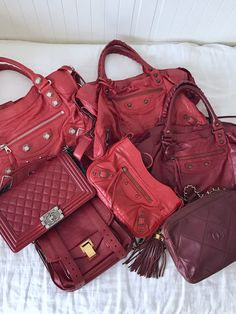 7b20d61db7d8 Red handbags and how to style them. Balenciaga Bag