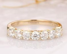 Moissanite   Etsy My Engagement Ring, Art Deco Ring, Anniversary Bands, Antique Rings, Eternity Bands, Moissanite, Ring Designs, Bridal Jewelry, Wedding Bands