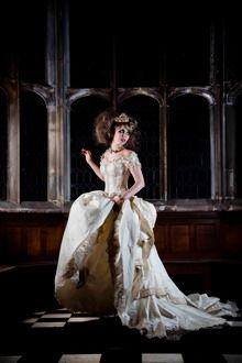 Tsarevna, emo princess in a long wedding dress