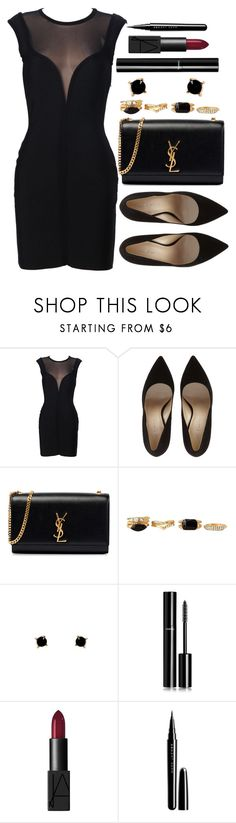 """""""Untitled #3461"""" by natalyasidunova ❤ liked on Polyvore featuring Yves Saint Laurent, Charlotte Russe, Humble Chic, Chanel, NARS Cosmetics and Marc Jacobs"""