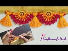 Saree Kuchu New Designs, Saree Tassels Designs, Kurti Neck Designs, Fancy Blouse Designs, Gold Mangalsutra Designs, Stylish Blouse Design, Crochet Stitches Patterns, Bridal, Indian Gowns