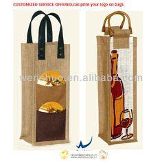 58547e169 Las 16 mejores imágenes de bolsa botella vino | Wine bottles, Jute y ...
