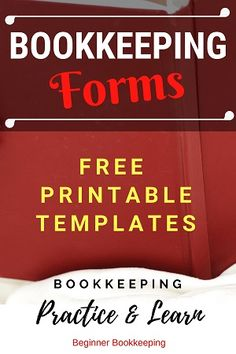 30 free printable bookkeeping forms and templates in PDF for small business accounting, and student practice. Excel templates also available. Online Bookkeeping, Small Business Bookkeeping, Bookkeeping And Accounting, Small Business Accounting, Accounting And Finance, Business Education, Accounting Basics, Bookkeeping Software, Bakery Business