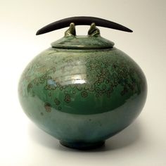 Lidded Jar Green