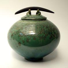 Lidded Jar Green