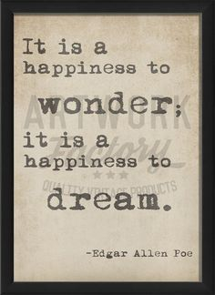 A Happiness to Wonder