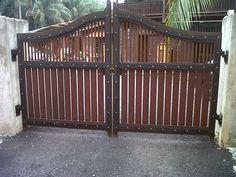 Kapsah custom carpentry house main gate 10ft x 6ft rm 7000 cengal Kapsah custom…