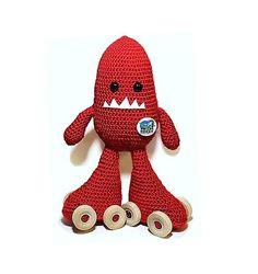 Moxi Red Crochet Skate Monster by SkateMonsters on Etsy