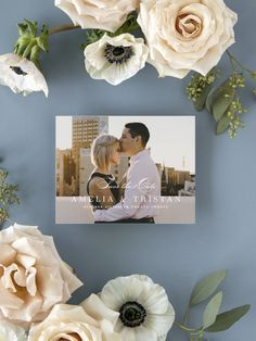 Simple Romance Photo Wedding Save the Date Cards Destination Wedding Save The Dates, Destination Wedding Invitations, Wedding Stationary, Save The Date Magnets, Save The Date Cards, Engagement Ideas, Wedding Engagement, Modern Save The Dates, Wedding Trends