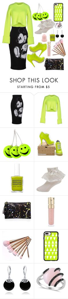"""Splash of Neon"" by loves-elephants ❤ liked on Polyvore featuring Lena Hoschek, MM6 Maison Margiela, Lewis N. Clark, Olsenhaus, Loeffler Randall, Smith & Cult, Casetify, Bling Jewelry and Allurez"