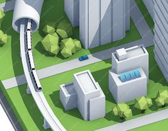 "Smart-City: Illustration im ""Low-Poly""-Stil Isometric Shapes, Isometric Design, Technical Illustration, City Illustration, Desing Inspiration, Low Poly Games, Pixel Art Games, City Model, Low Poly 3d Models"