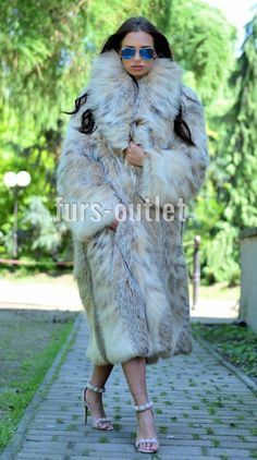NEW LYNX LONG FUR COAT CLASS JACKET MINK FOX CHINCHILLA VEST RUSSIAN SABLE CITES