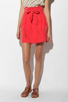 I love this red paper bag skirt!