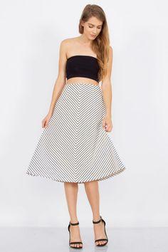 Rather Be Stripe Skirt (c-s) - £30.00 #onselz