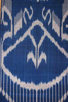 Amazing Ikat Adras fabric 100% Original Uzbek by SunSilkFlowers