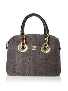 Cavalli Signature jacquard satchel