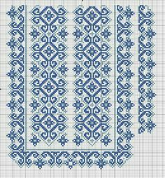 Beading _ Pattern - Motif / Earrings / Band ___ Square Sttich or Bead Loomwork ___ Gallery. Cross Stitch Borders, Cross Stitch Charts, Cross Stitch Designs, Cross Stitching, Cross Stitch Embroidery, Hand Embroidery, Needlepoint Patterns, Loom Patterns, Embroidery Patterns