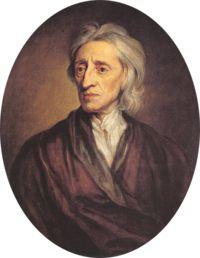 """Locke foi o primeiro a definir o """"si mesmo"""" através de uma continuidade de consciência. Ele postulou que a mente era uma lousa em branco (tabula rasa). Em oposição ao Cartesianismo, ele sustentou que nascemos sem ideias inatas, e que o conhecimento é determinado apenas pela experiência derivada da percepção sensorial"""