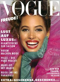 MODEL- CHRISTY TURLINGTON VOGUE RUSSIA, DECEMBER,1987  COVER