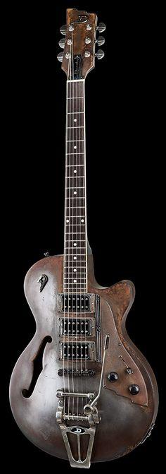 Duesenberg patina custom guitar