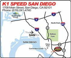 san diego map Ribbon Cutting & Grand Opening Celebration // K1 Speed San Diego