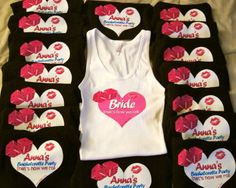 Customized Bachelorette Tank Tops by boxd on Etsy, $14.99