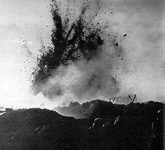 Trench warfare. World War I. (July 28, 1914 - November 11, 1918.)