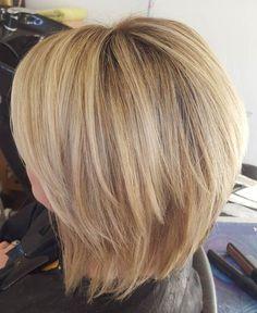 blonde chopped bob haircut