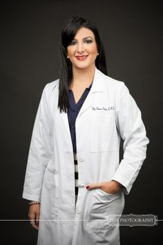 Girl dentist. Professional photo shoot