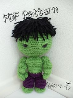 Hulk Sackboy Amigurumi PDF Pattern         May 21, 2015 at 07:52AM