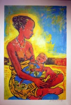 Peter Klashorst - Mother and child