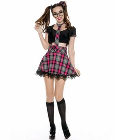 Skirt, Black Clueless Dionne Costume UK IMPORT COST-W NEW Top with Jacket