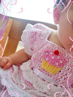 Crochet Cupcake Party Top