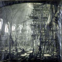 Muirhead Bone, Construction of the British Museum Reading Room
