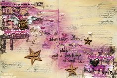Dreaming Dreams - Edgar Allan Poe inspired art journal spread created by Tusia Lech