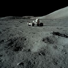 45 YEARS AGO TODAY: Apollo 17 astronaut Gene Cernan takes the lunar rover for a test spin on the Moon, December 11, 1972. Photos by Jack Schmitt.