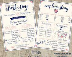 Rustic Infographic Wedding Program Boho Wedding by PeekabooPenguin
