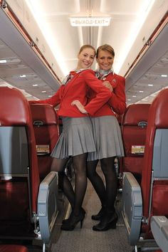 Hostesses on Russian Red Wing Airlines.
