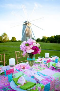 I like the idea of a windmill in the background. Would be super cute with an old farm windmill.