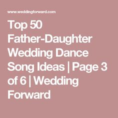 1000 Ideas About Father Daughter Wedding Songs On Pinterest