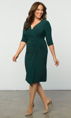 Check out the deal on Vixen Cocktail Dress-Sale! at Kiyonna Clothing Plus Size Dressy Dresses, Plus Size Dress Stores, Plus Size Cocktail Dresses, Plus Size Dresses, Plus Size Outfits, Cocktail Party Outfit, Casual Cocktail Dress, Curvy Fashion, Plus Size Fashion